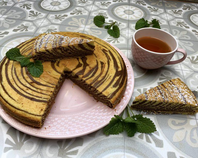 Zebra koláč z polohrubé špaldové mouky Pernerka