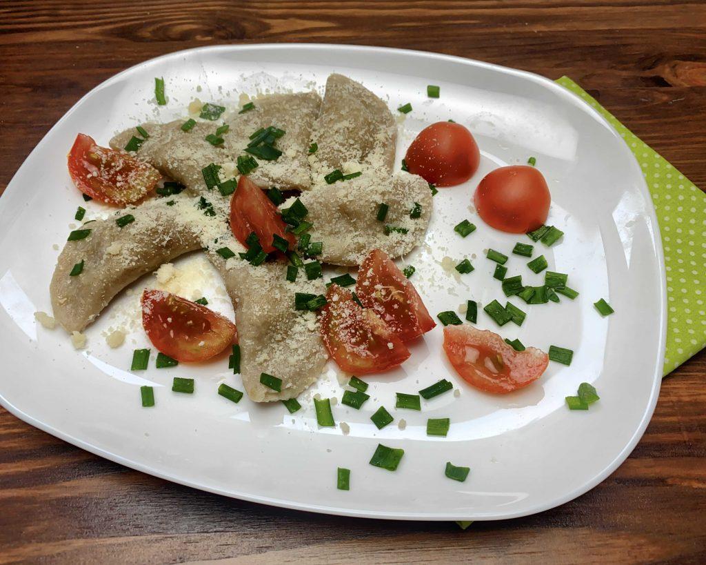 Tyrolské plněné taštičky z žitné celozrnné hladké mouky Pernerka