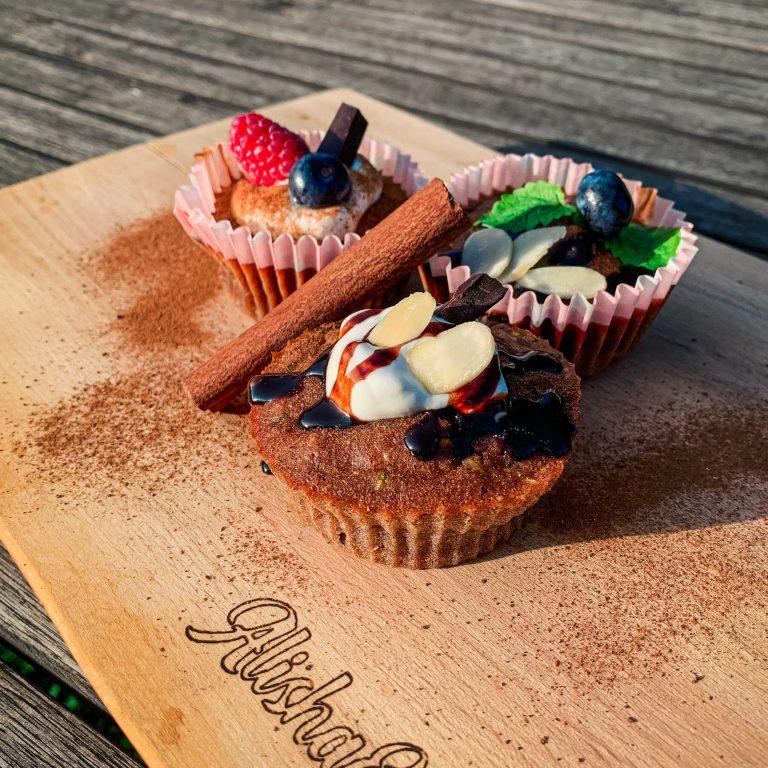 Cuketové muffiny z celozrnné špaldové hladké mouky Pernerka
